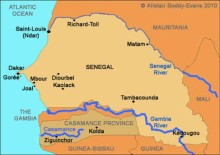 Map of Casamance province